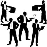Business Show Silhouettes Stock Image