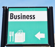 Business sign Royalty Free Stock Image