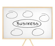 'Business' sign and empty places on magnetic board Stock Photo