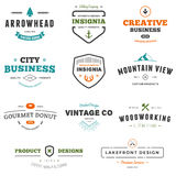 Business sign graphics. Set of business sign graphics and text designs Stock Image