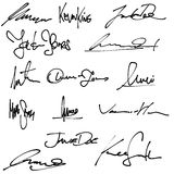 Business signatures Royalty Free Stock Image