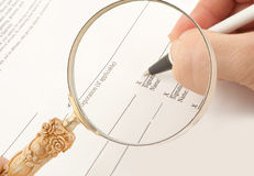 Business signing Stock Images