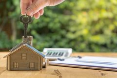 Business Signing a Contract Buy - sell house stock photography