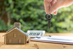 Business Signing a Contract Buy - sell house stock images