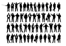 Business  silhouette. As  illustrattions Stock Photography
