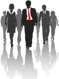 Business silhouette people walk human resources Royalty Free Stock Photography