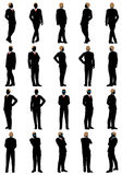 Business silhouette set Stock Images
