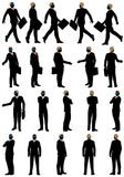 Business silhouette set Stock Image