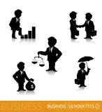 Business silhouettes 1 Royalty Free Stock Images