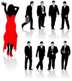 Business silhouettes. Element for design, vector illustration Royalty Free Stock Images