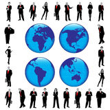 Business silhouettes. On the white background Vector Illustration
