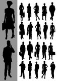 Business_silhouettes Stock Photography