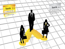 Business silhouettes Royalty Free Stock Photos