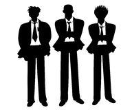 Business silhouettes Stock Photos