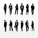 Business Silhouettes Royalty Free Stock Images