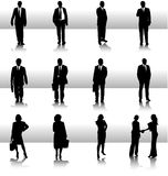Business silhouettes collection Royalty Free Stock Photography