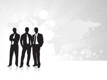 Business silhouettes on the Gray background Stock Images