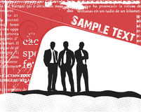Business silhouettes on the sample text Stock Photography