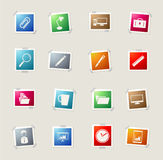 Business simple icons Royalty Free Stock Photos