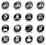 Business simple icons Stock Photography
