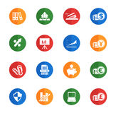 Business simple icons Stock Photos