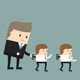 Business situation royalty free illustration