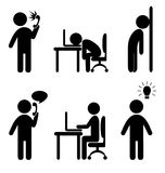 Business situation icons Stock Photography