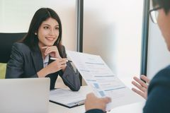 Business situation, job interview concept. stock photo