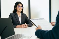 Business situation, job interview concept royalty free stock photos
