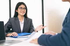 Business situation, job interview concept royalty free stock images