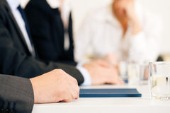 Business situation - team in meeting Royalty Free Stock Photo