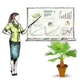 Business sketch graphs Royalty Free Stock Image