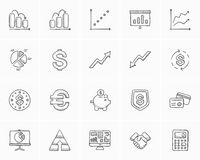 Business sketch icon set. Business sketch icon set for web, mobile and infographics. Hand drawn business icon set. Business vector icon set. Business icon set Stock Images