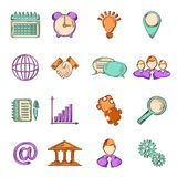 Business sketch line icons Royalty Free Stock Photography