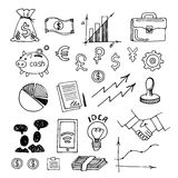 Business sketch vector isolated on white background. stock photos