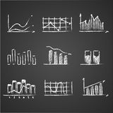 Business sketches finance statistics infographics Royalty Free Stock Photo