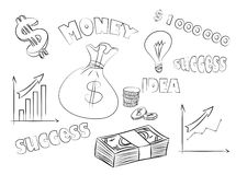 Business sketchy set Royalty Free Stock Image