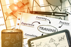 Business skills concept Stock Photos