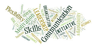 Business skills word cloud royalty free stock images