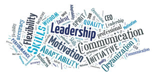 Business skills word cloud Stock Photo