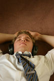 Business sleep. Business man on a break stock photography
