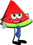 Business slice of watermelon wearing tie Stock Photo