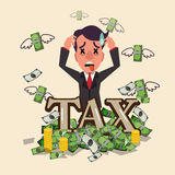 Business smart man worry about tax Royalty Free Stock Images