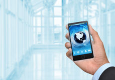 Business and Smart phone 03 Stock Photography