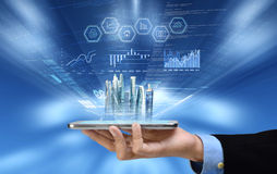 Business on smart phone Stock Images
