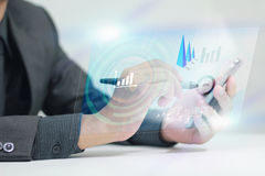Business on smart phone. Business comunication concept Stock Photos