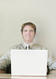 Business smile royalty free stock photography