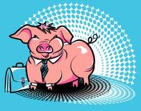 Business smug piggy Royalty Free Stock Photo