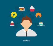 Business snack icons Royalty Free Stock Photos