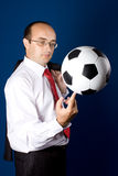 Business with soccer ball (football) Stock Image
